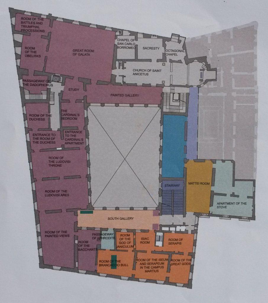mappa primo piano Palazzo Altemps