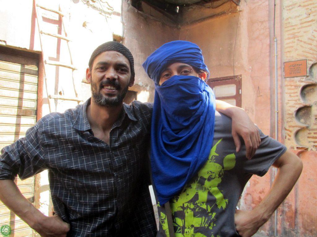 venditore nel souk di Marrakech