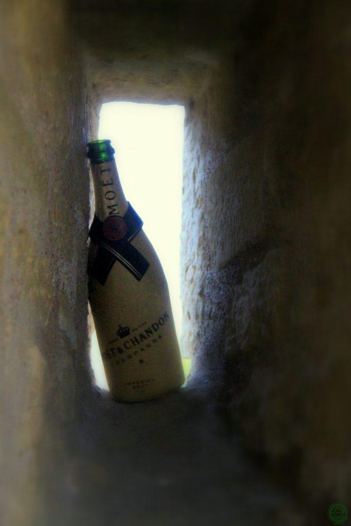 Champagne abbandonato in Città del Lussemburgo