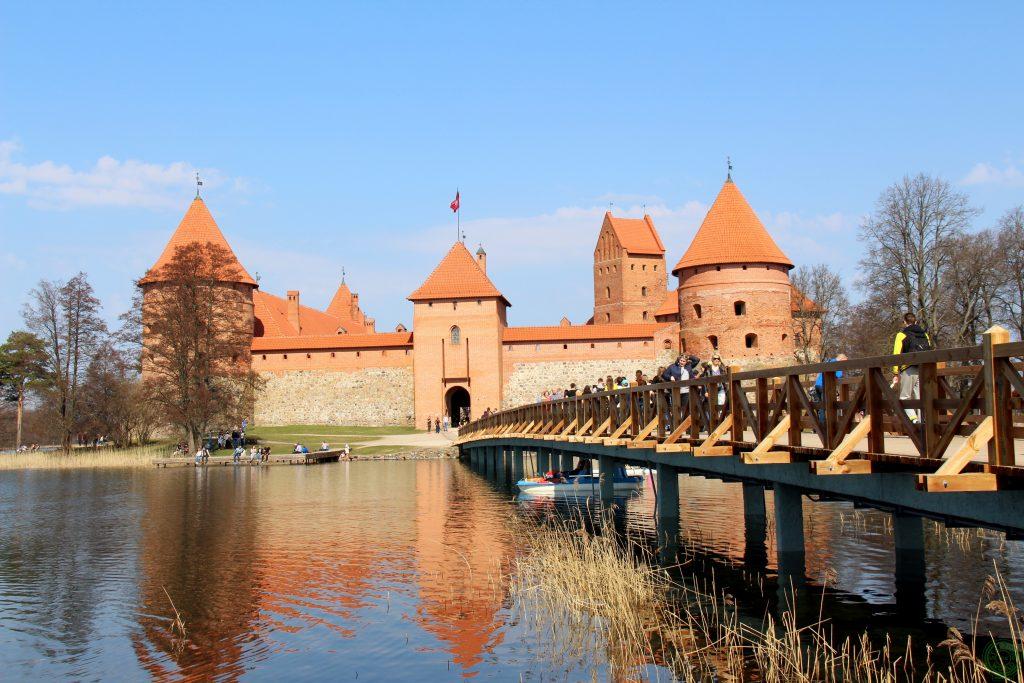 Arrivando al castello di Trakai