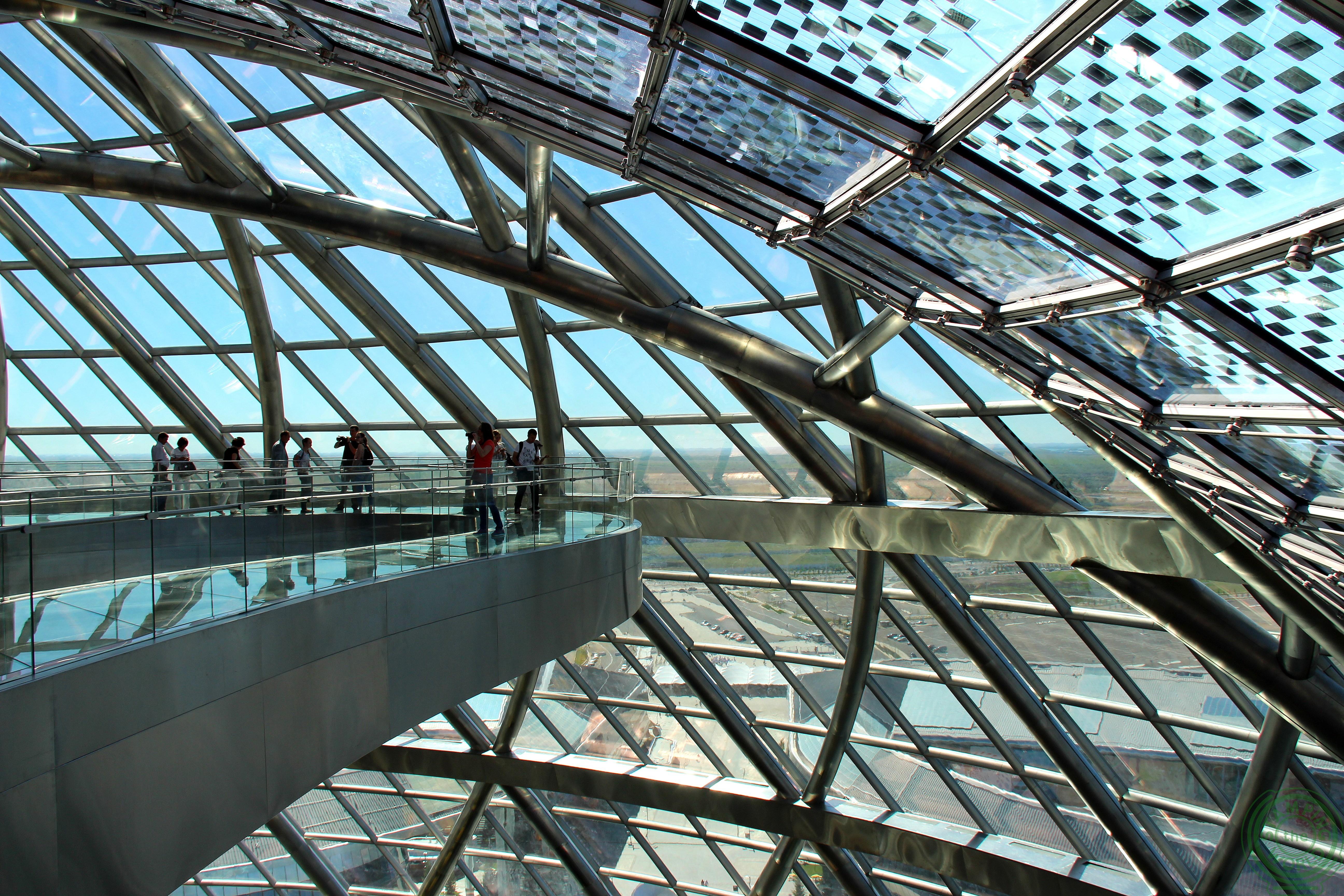 Interno del padiglione Nur Alem - Expo 2017 Astana