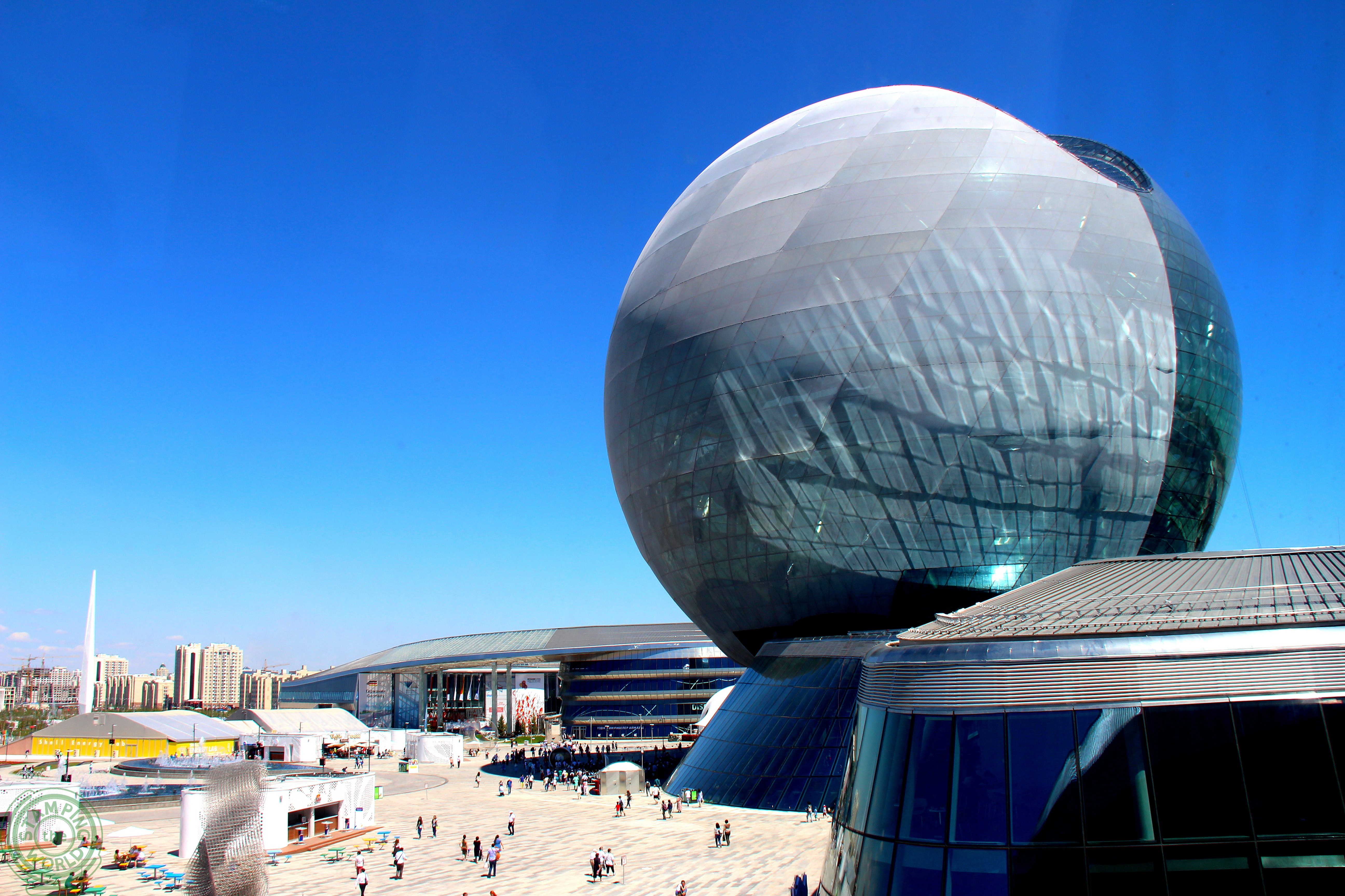 Vista sull'Expo 2017 Astana