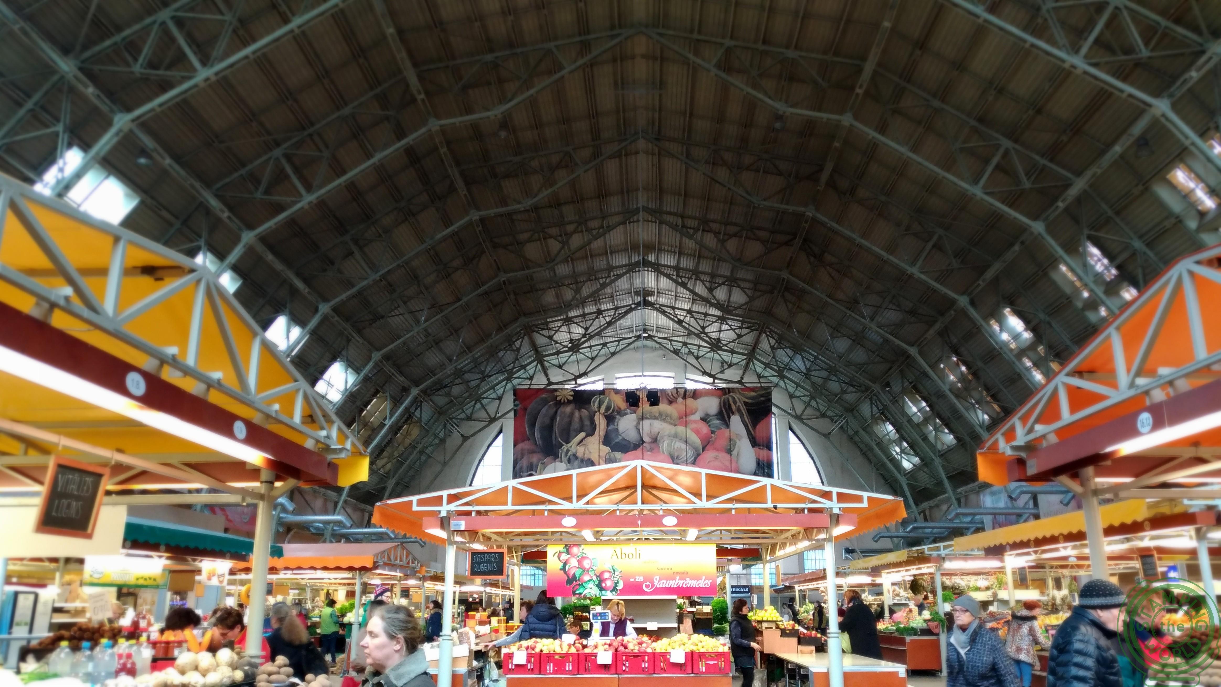 il mercato centrale di Riga - veduta generale