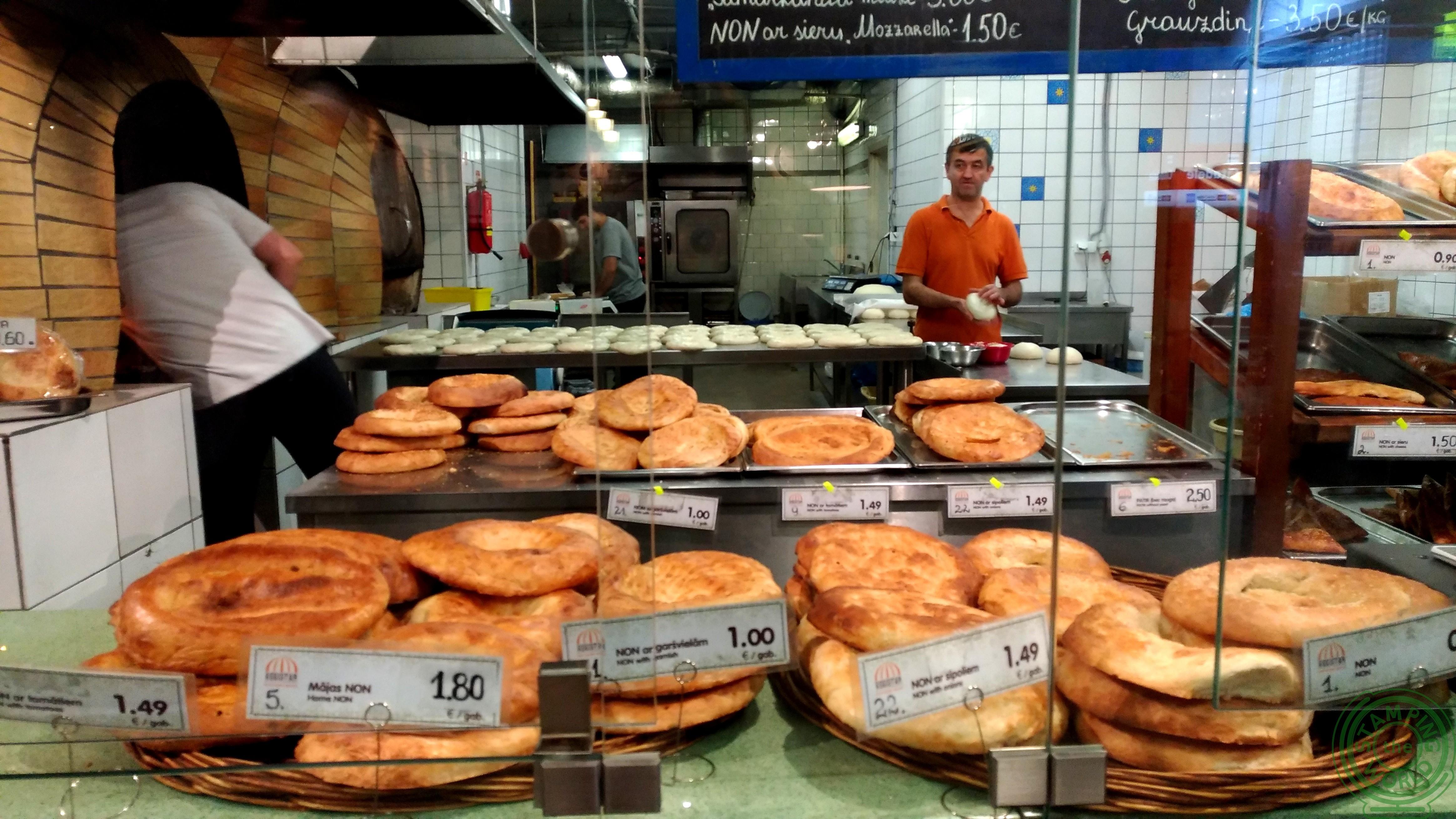 il mercato centrale di Riga - panetteria