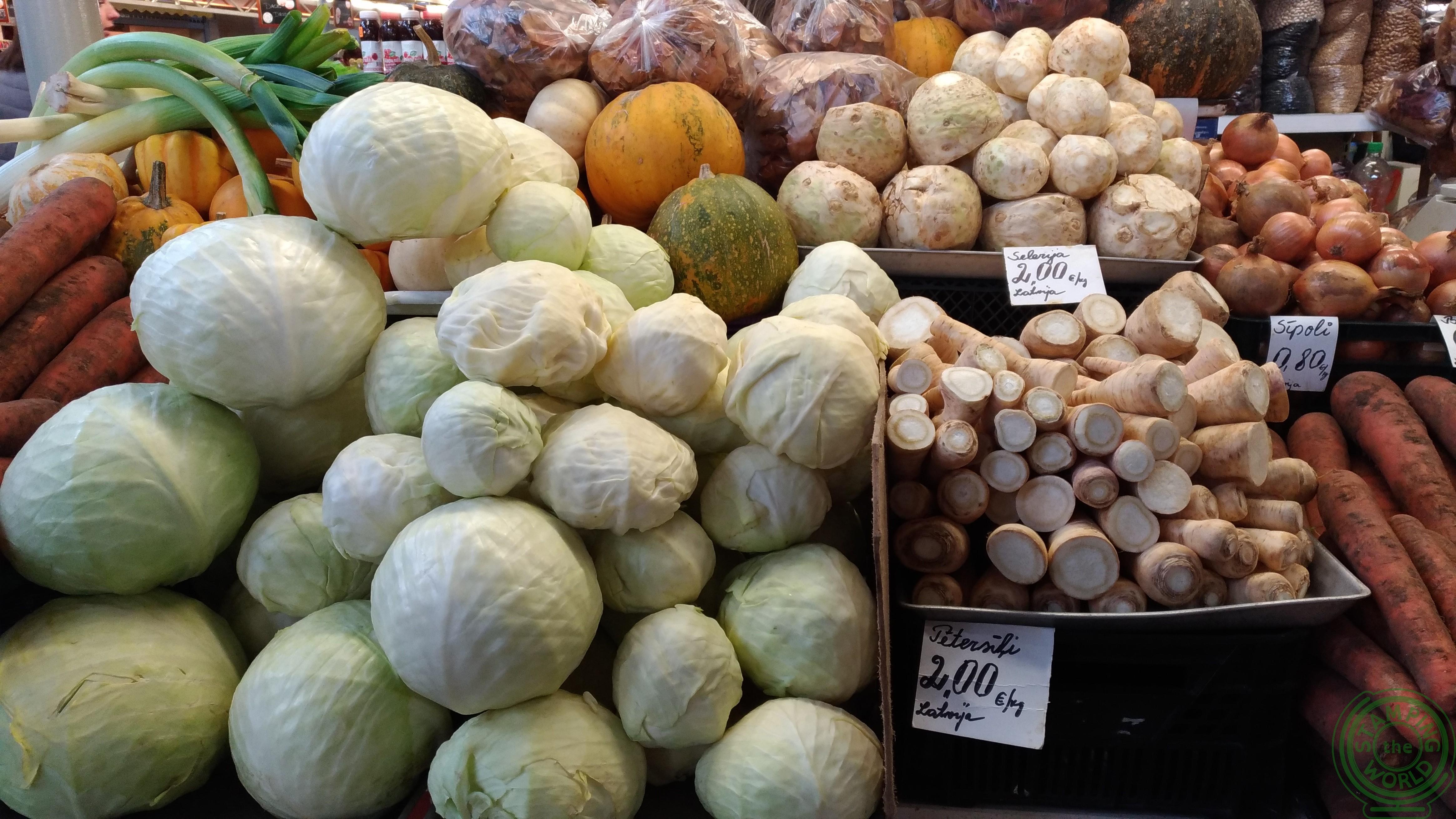 il mercto centrale di Riga - verdura