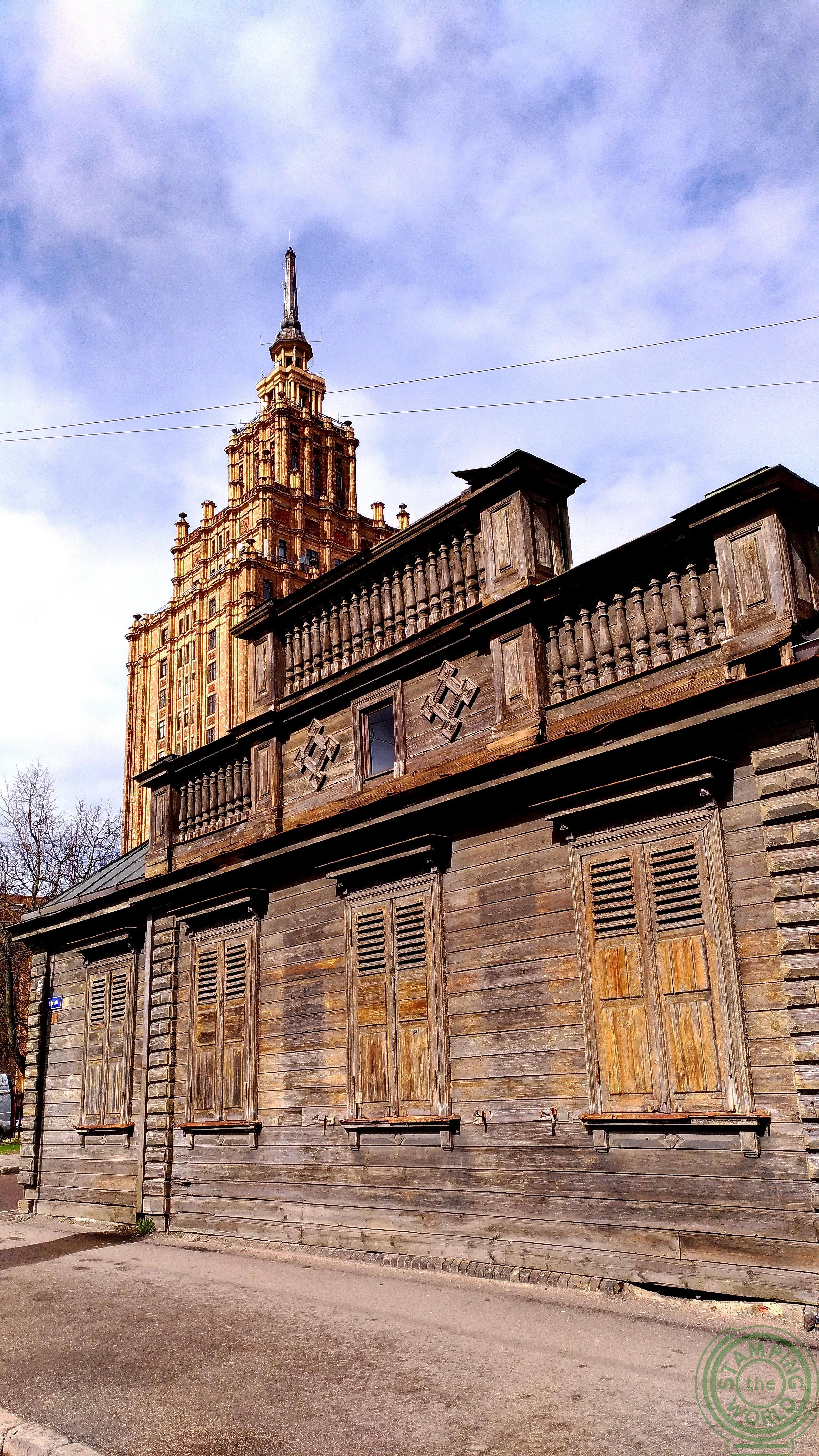 in giro per il quartiere russo di Riga