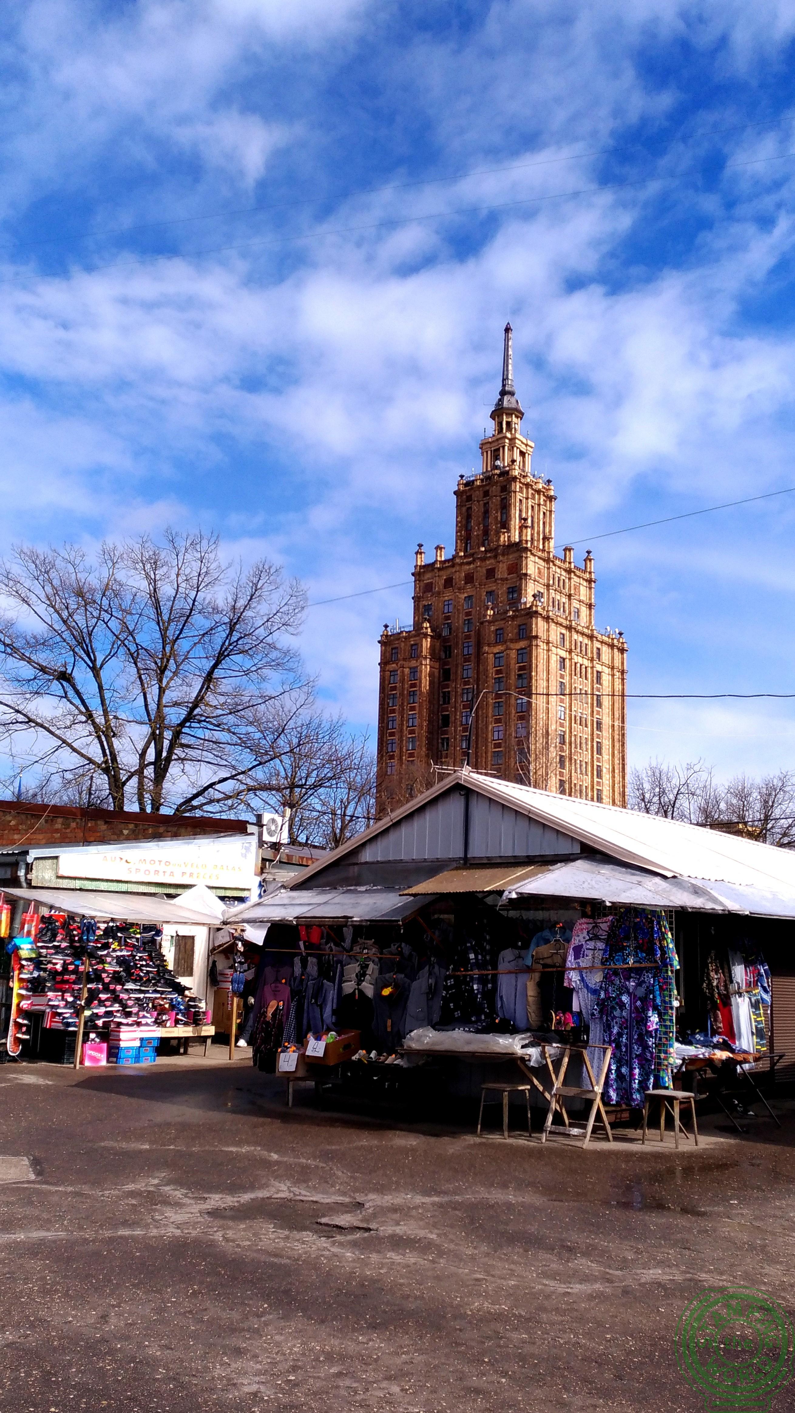 il mercato centrale di Riga - abbigliamento