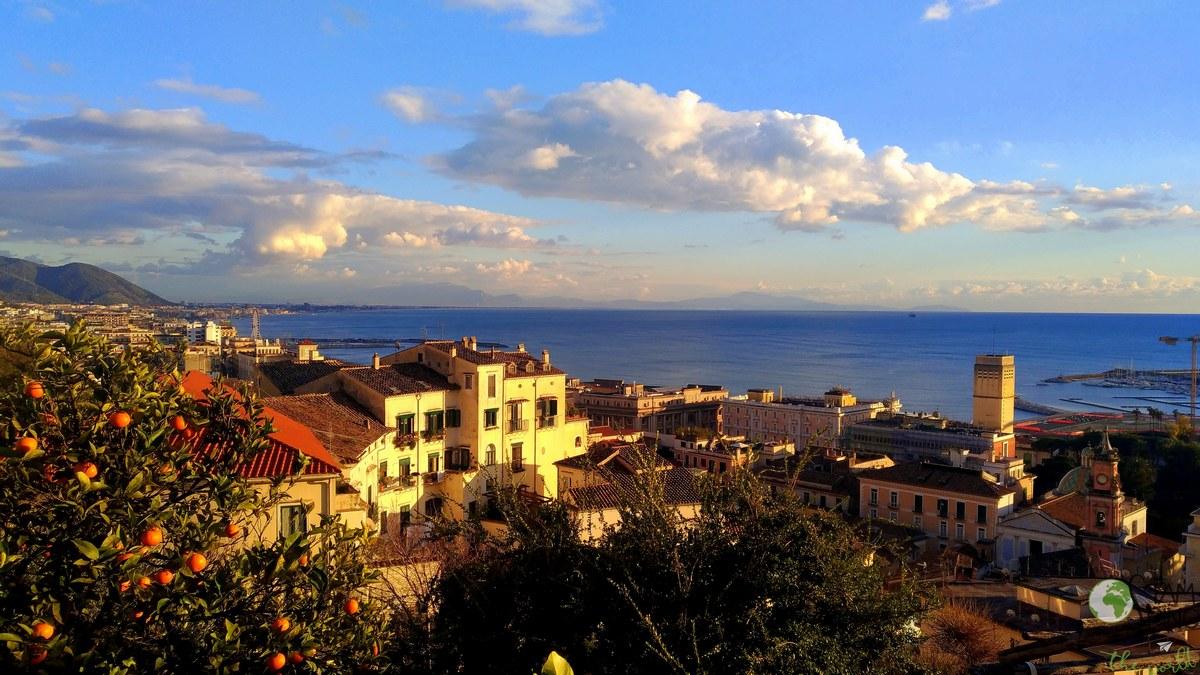 Vista su Salerno - Giardino della minerva, salerno, orto botanico