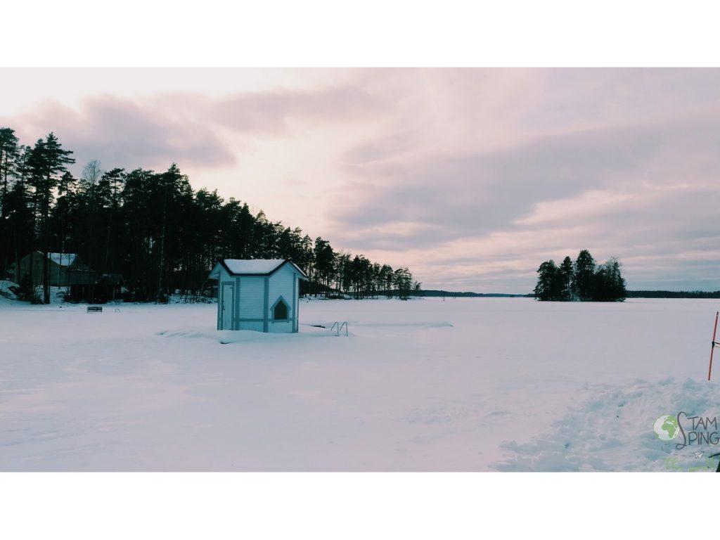 Sauna Finlandese - Vista dalla sauna di Savitaipale