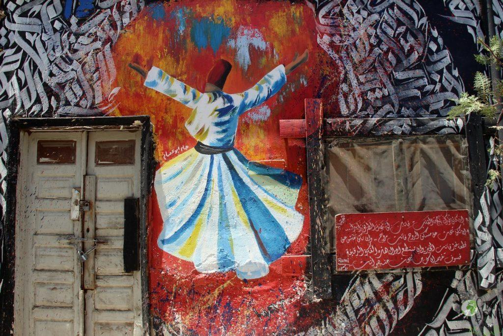 Daraj al Khala murales - Amman antica